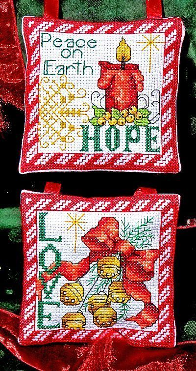 Ms162 hope love ornaments