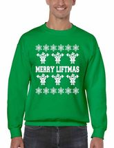 Merry Liftmas Men's Crewneck Sweatshirt Ugly Christmas Sweater - $23.00