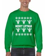 Merry Liftmas Men's Crewneck Sweatshirt Ugly Christmas Sweater - $23.00