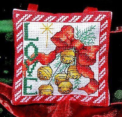 Hope Love Ornaments christmas holiday cross stitch chart Bobbie G Designs