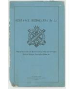 Ordnance Memoranda No 24 1884 8 in muzzle loading rifles carriages book ... - $32.00