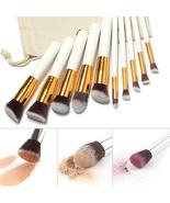 10 Pcs Professional Makeup Brushes Set Kit Free Draw String Brushes Cosm... - $12.98
