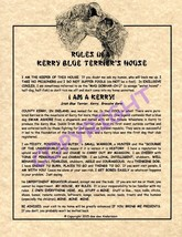 Rules In A Kerry Blue Terrier's House - $20.70