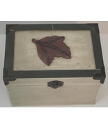 Small Decorative Wooden Trunk Leaf Design Lid 6in x 4 1/2in x 4 1/2in - $9.40