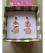 Crystal Cupcake Trio Sterling Silver Earrings Rhinestones Pierced Set of 3 - $13.18
