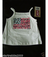 Levi's Baby Girls Graphic Knit Top/Tank, White Color, Size 18 Months. NWT - $10.88