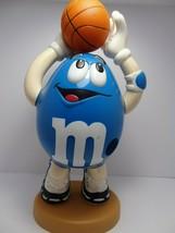 """M&M Dispenser Blue Peanut Basketball Candy Dispenser 12 1/2"""" Tall - $17.77"""