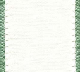 "Primary image for 27ct Country Aire Antique White/Green banding 3.9""w x 36"" 100% linen Mill Hill"