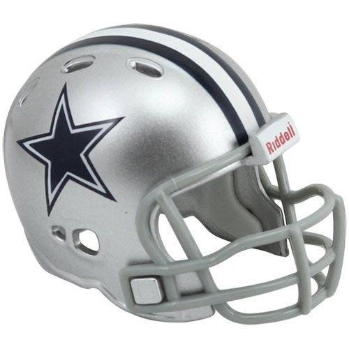 "2 DALLAS COWBOYS POCKET PRO HELMET 2"" SIZE  Made By RIDDELL! NFL FOOTBALL"