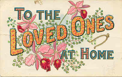 Primary image for To The Loved Ones At Home 1908 Vintage Post Card