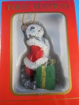 "Kurt Adler First Edition Petsmart Tabby CAT Christmas Ornaments 3"" NEW - $6.92"