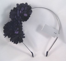 Beautiful New Solid Black Flower Headband Nwt From Target #H2005 - €3,54 EUR