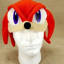 Red Sonic Hedgehog SEGA Plush Fleece Hat One Size Halloween Mask Cap  - $14.40