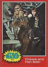 1977 Topps Star Wars Red #111 Chewie And Han Solo! > Harrison Ford > Poor - €0,86 EUR