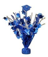 "2 pieces Royal blue Graduation Centerpiece 14"" tall with foam graduation... - £7.48 GBP"