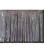 "Iridescent white Fringed Garland Valance Party decoration 10 ft long x 15"" - $6.92"