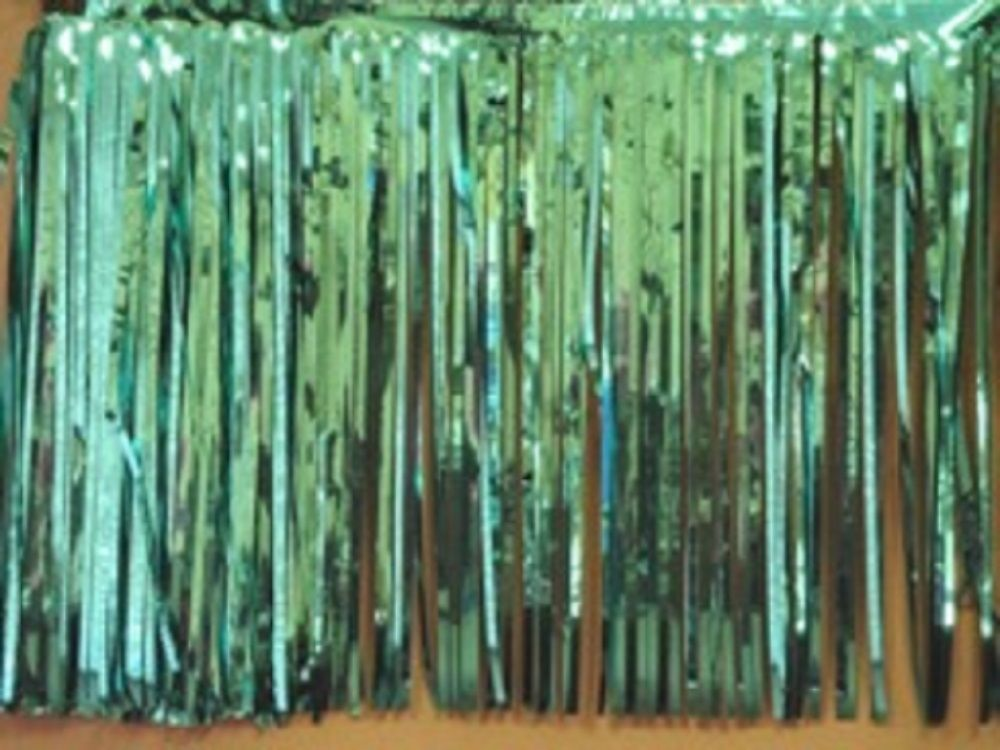 """Metallic Teal Fringed Garland Valance Party decoration 10 ft long x 15"""""""