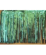 "Metallic Teal Fringed Garland Valance Party decoration 10 ft long x 15"" - $6.92"