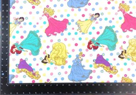 Disney Princesses Winceyette 100% Brushed Cotton Fabric Material *3 Sizes* - $1.79+