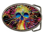 Colorful sugar skull belt buckle thumb155 crop