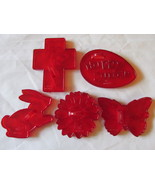 Vintage Red Plastic Transparent HRM Cookie Cutt... - $11.00