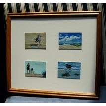 Four Beachy Framed ACEOs  - $250.00