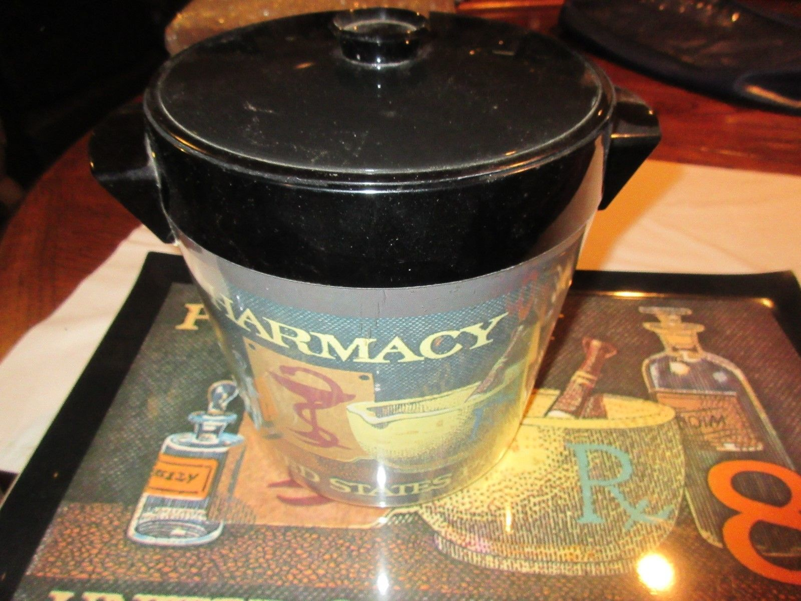 Rx ,Pharmacy ,  Postage Stamp , Ice Bucket , Tray , Cup Serve Tray , Thermo-Serv