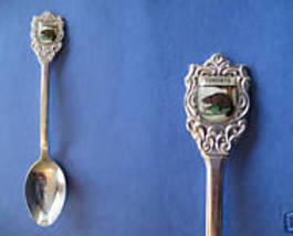 TORONTO Ontario Souvenir Collector Spoon Collectible CANADA BEAVER Emblem - $5.95