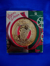 CHRISTMAS Ornament JAMES DEAN 1998 American Greetings 18K Gold Collector  - $9.95