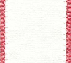 "Primary image for 27ct Country Aire Antique White/Red banding 3.9""w x18"" 100% linen Mill Hill"