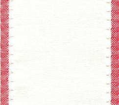 "27ct Country Aire Antique White/Red banding 3.9""w x18"" 100% linen Mill Hill - $7.00"