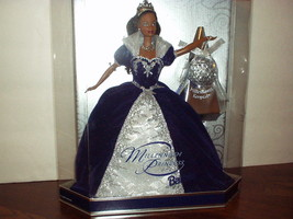 2000 Special MILLENNIUM Black/African American BARBIE w/GORGEOUS Gown/Cr... - $72.99