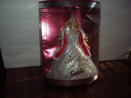 2001 Mattel HOLIDAY CELEBRATION BARBIE in Sparkling White GOWN, FUR CAPE... - $15.99