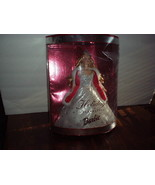 2001 Mattel HOLIDAY CELEBRATION BARBIE in Sparkling White GOWN, FUR CAPE... - $18.99