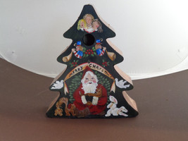 Christmas birdhouse with copper roof - $45.00