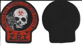 ZOMBIE RESPONSE TEAM MORALE MILITARY COMBAT ZRT VELCRO PATCH - DEATH SKULL - $12.99