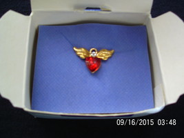 Avon Tiny Angel Birthday Pin , July , Ruby , 2002 - $3.00