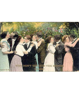 Hey Join The Kissing Class 1910 Vintage Post Card  - $5.00