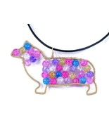 Pembroke Welsh Corgi necklace - beaded wire sil... - $37.00