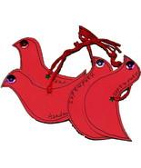 Birds Handmade Tags 4 Cardstock Red - $1.00