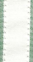"27ct Country Aire Antique White/Green banding 2""w x18"" 100% linen Mill Hill - $5.40"
