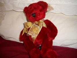 Russ Maroon Teddy Bear - $14.00