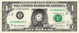 PIG PEN Charlie Brown on REAL Dollar Bill Cash Money Bank Note Currency Dinero - $4.44