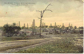 Glenn Pool Oil Field Tulsa Oklahoma Vintage 1911Post Card  - $15.00