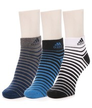 Adidas Multicolor Cotton Socks for Men - Pack of 3 - $25.31