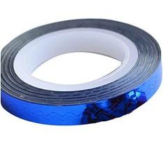 4 Rolls Wave Pattern Striping Tape Line Nail Art Decoration Sticker, Blue
