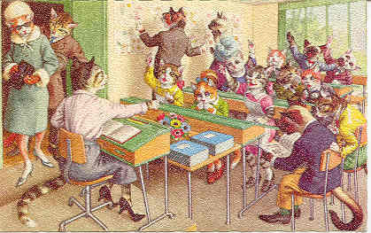 Primary image for  A Classroom of Kittens Alfred Maizer Vintage Post Card