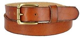 """Women's Vintage Style Full Grain Leather 1-1/8"""" Wide Belt (Tan, 34) - $22.72"""