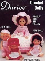 Darice Crochet Dolls Angela, Jean, John, Raspberry Girl Pattern Leaflet - $1.77