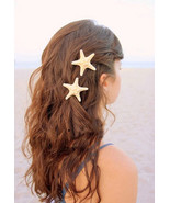 Natural Sand Color Starfish Hair Clip.1 piece Nautical Beach Hair Clip. ... - $11.50